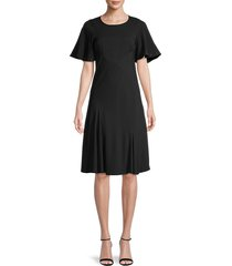 see by chloé women's studded godet dress - black - size 34 (2)