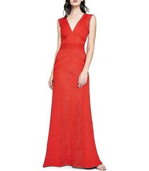 lace & crepe column gown