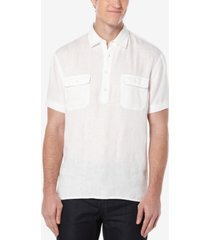 perry ellis men's double-pocket popover shirt