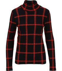 stella mccartney check roll-neck sweater