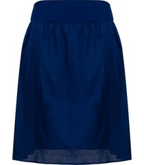 eres satin pool skirt - blue