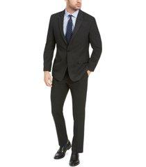 izod men's classic-fit black pindot suit
