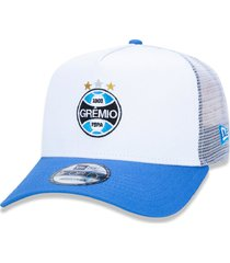 boné new era 9forty aframe trucker sn gremio aba reta branco