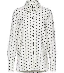 james, 857 printed tailoring overhemd met lange mouwen zwart stine goya