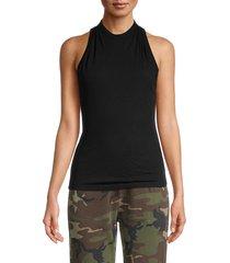 rta women's sabrina zip-back tank top - black - size xxs
