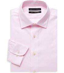 saks fifth avenue men's textured slim-fit shirt - pink - size 16.5 34-35