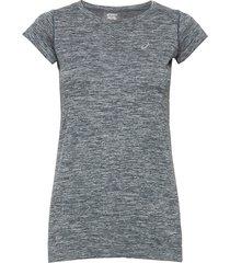 race seamless ss top t-shirts & tops short-sleeved blå asics