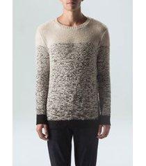 sweater tricot gradient-natural/preto