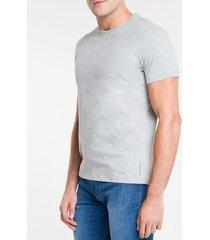 camiseta masculina essentials cinza mescla calvin klein jeans - p