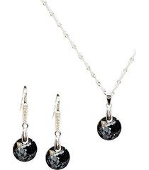 conjunto lunar con swarovski silver joyas montero