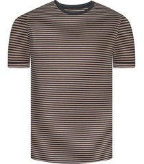 camiseta con rayas bicolor manga corta para hombre freedom 00778