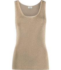 metallic gold tone tank top