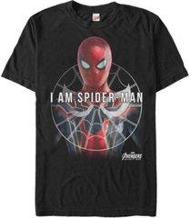 marvel men's avengers infinity war i am spider-man short sleeve t-shirt