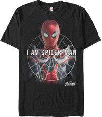 marvel men's avengers infinity war i am spider-man short sleeve t-shirt