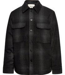 bryant flannel check outerwear ulljacka jacka svart zadig & voltaire