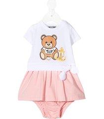 jersey dress with teddy bear print