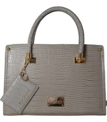 bebe bella croco medium satchel with card case