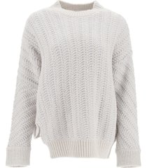 stella mccartney asymmetrical herringbone sweater