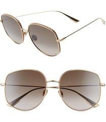 women's dior 58mm gradient square sunglasses - rose gold/ black brown green