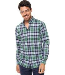 camisa verde tommy hilfiger brix chk sfh6