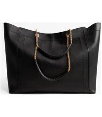 mango women's chain handle shopper tote bag