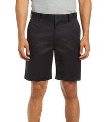 men's nordstrom stretch cotton non-iron shorts, size 33 - black