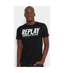 camiseta replay chronicle deluxe masculina