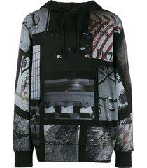 1017 alyx 9sm all-over print hoodie - black