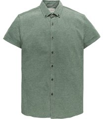 cast iron csis203648 6080 short sleeve shirt jersey pique jacquard mallard green