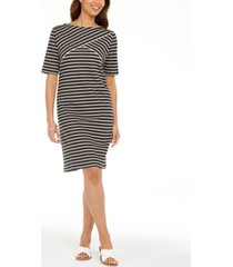 karen scott striped shift dress, in regular and petite, created for macy's