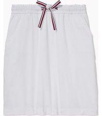 tommy hilfiger women's adaptive solid skirt bright white - xxl