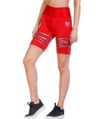 legging biker flashy rojo ngx