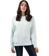 henri lloyd womens plain sailing crew sweatshirt size 16 in blue