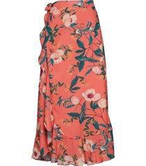 cindy skirt knälång kjol orange by malina