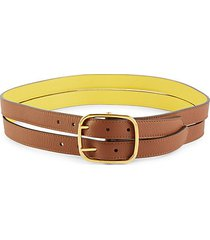 double-strand leather belt