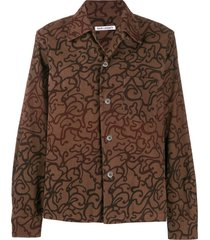 our legacy swirl-print shirt - brown