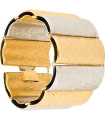rewind vintage affairs 1970's stripe bracelet - metallic