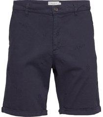 pascal embroidery chino shorts shorts chinos shorts blå les deux