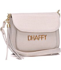 bolsa dhaffy bolsas palha com bolso branco