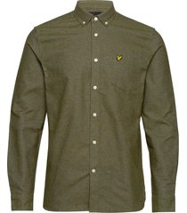 mottled shirt overhemd casual groen lyle & scott