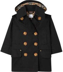 burberry black trench coat with removable hood