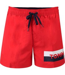 tommy hilfiger heren zwembroek tommy - red