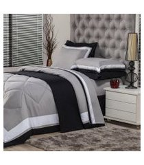 jogo de cama king plumasul soft comfort 4 peças cinza