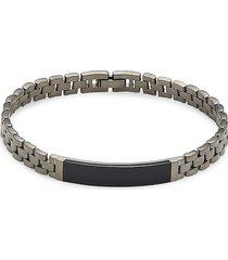 effy men's black rhodium-plated sterling silver & black onyx bracelet