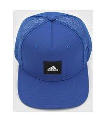 boné adidas performance trucker logo azul