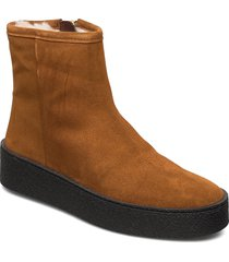 warm lining 5831 shoes boots ankle boots ankle boots flat heel brun billi bi
