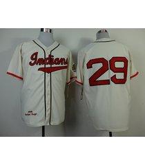 number 29 satchel paige jerseys cleveland indians cream t shirts