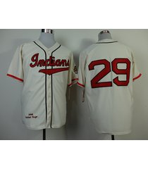 number 29 satchel paige jerseys cleveland indians cream t shirts