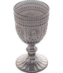 conjunto 6 taças vidro para vinho aubusson cinza 240ml