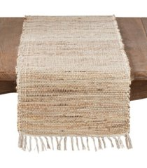 saro lifestyle 100% jute braided table runner